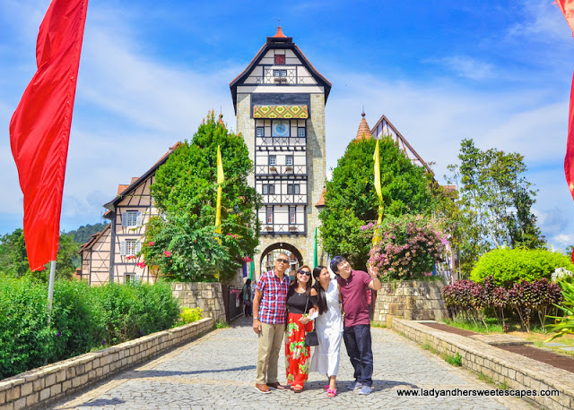 The family at Colmar Tropicale