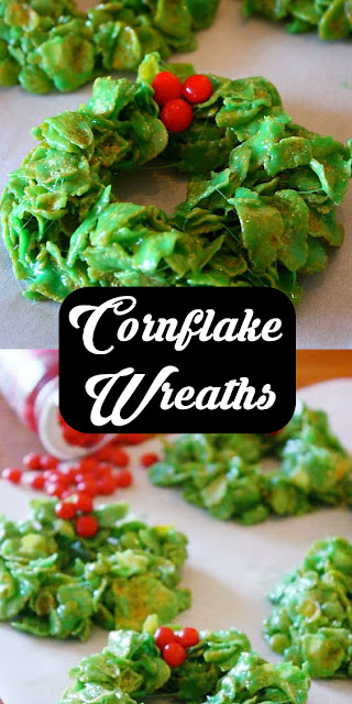 Yummy Christmas #Cornflake Wreaths #Recipe #cookies #easyrecipe