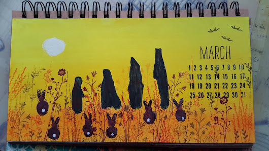 craft barn challenge for March...yellow and bunnies.
