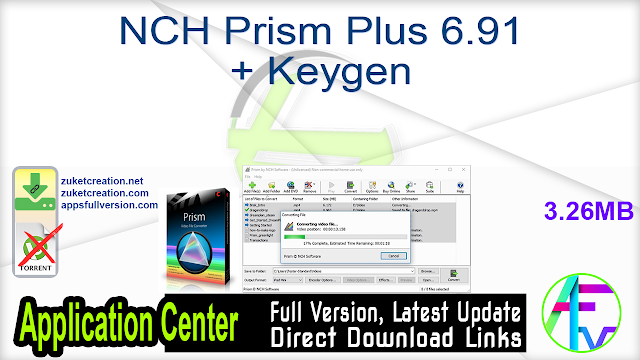 NCH Prism Plus 6.91 + Keygen