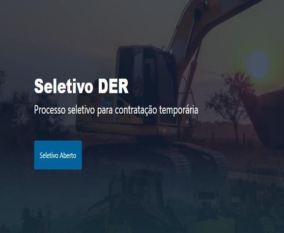 Processo seletivo é aberto pelo DER para a contratação de engenheiros civis em RO