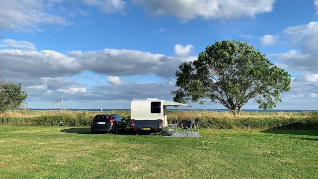 Plads 27 på Marstal Camping
