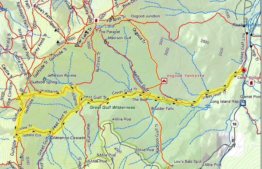 Jewell Trail Mt Washington Map.Mt Jefferson Nh 4000 Hiking Conditions
