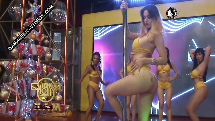 Tatiana Vazquez hot pole dance in thong damageinc videos HD