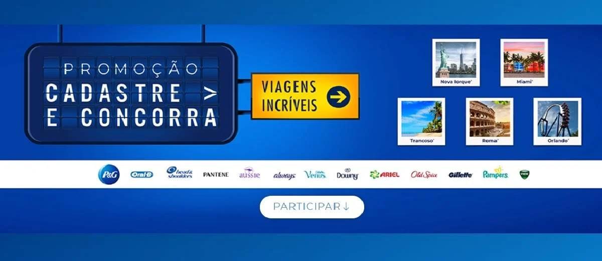 Promoção P&G Cadastro Premiado 2020 Prêmios e Viagens