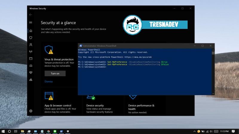 Cara Nonaktifkan Windows Defender Pada Windows 10 Menggunakan PowerShell