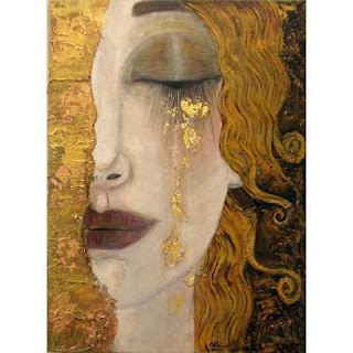 Crying Woman by Klimt