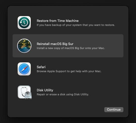 macOS QEMU Docker reinstall