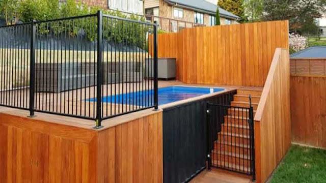 desain pagar kolam renang