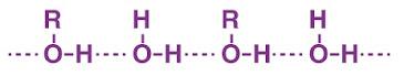الروابط الهيدروجينية في الكحول وحمض الكربوكسيل