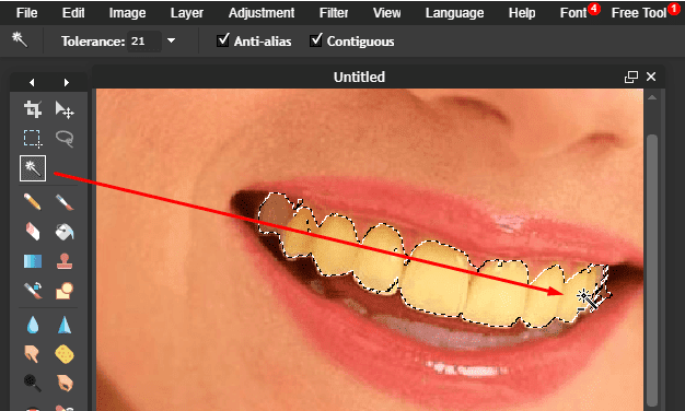 Cách làm trắng răng trong 1 phút bằng Photoshop online