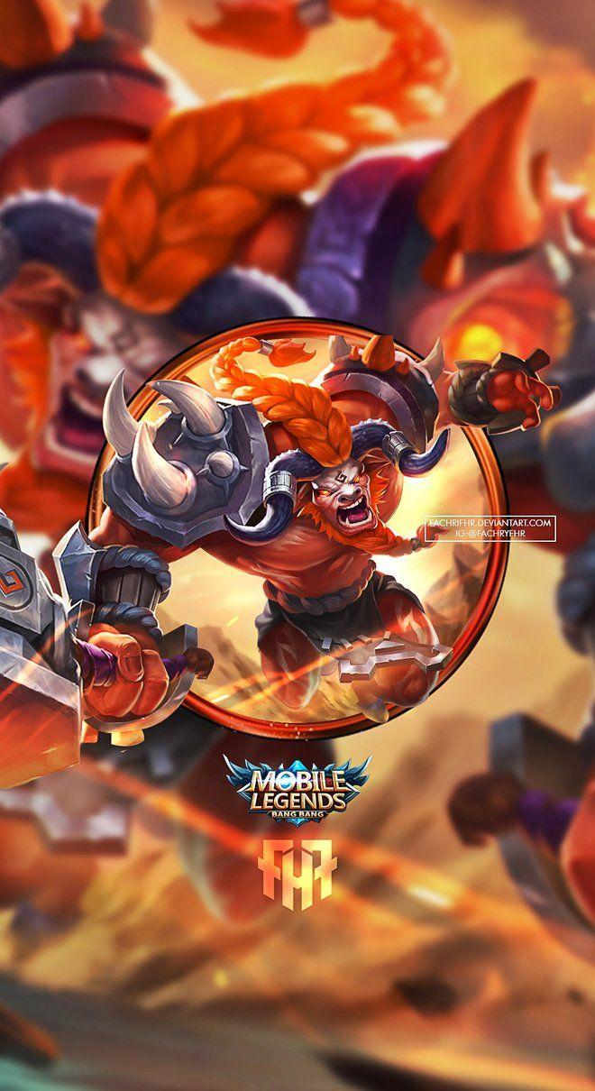 Wallpaper Minotaur Son of Minos Mobile Legends HD for Android and iOS