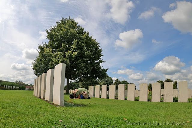 Graves of Indian Soldiers of First World War in Belgium - Bedford House Cemetery
