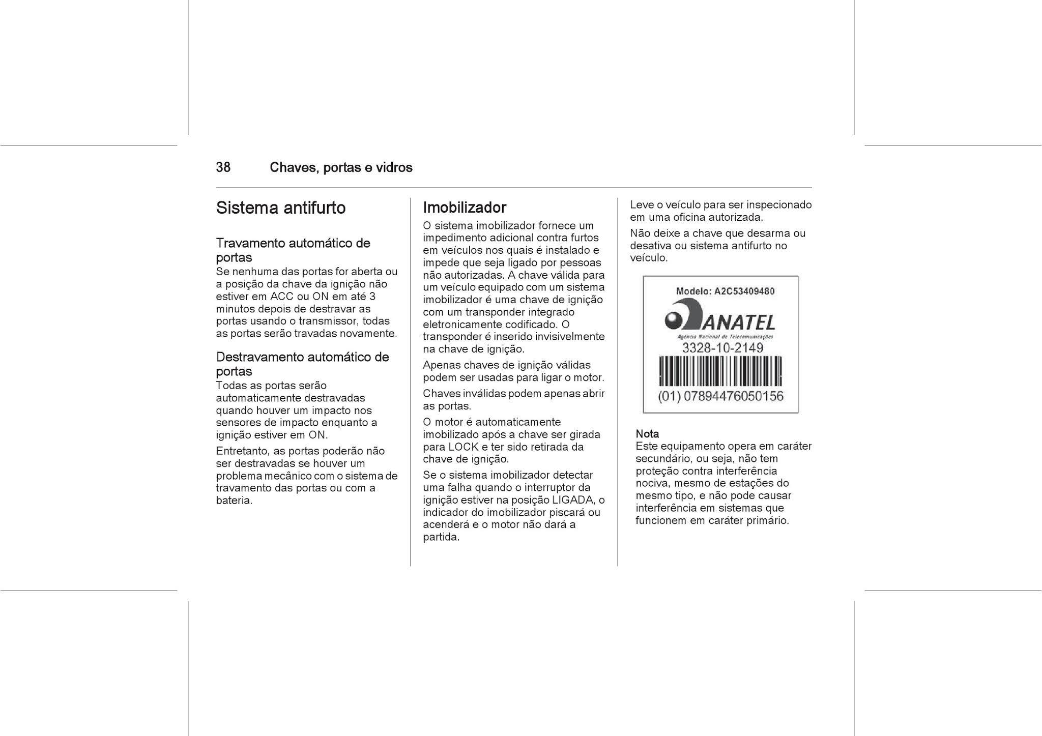 MANUAIS DO PROPRIETÁRIO GRÁTIS: MANUAL DO PROPRIETÁRIO GM