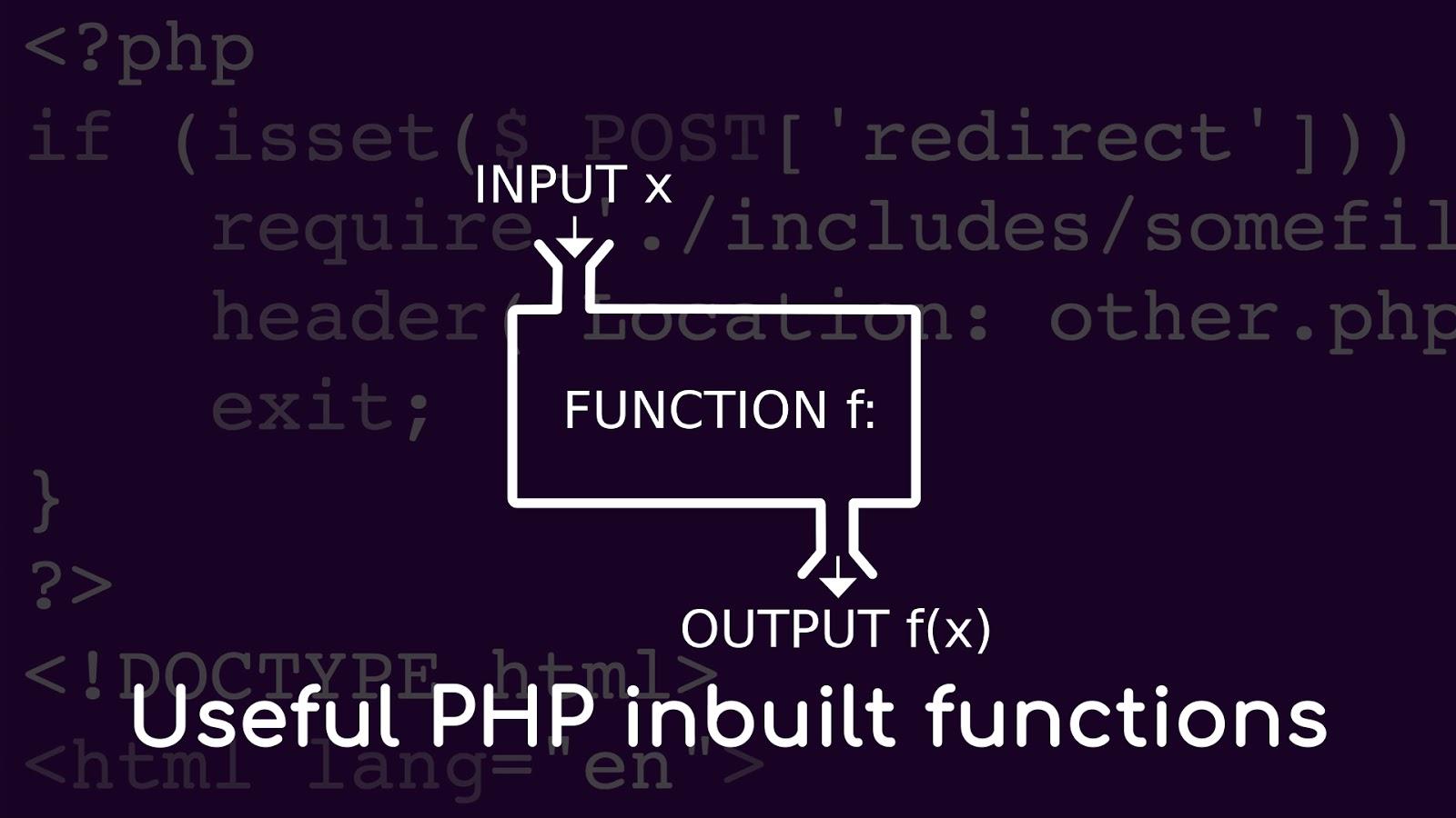 PHP inbuilt functions
