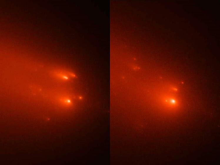 Hubble flagra divisão de núcleo sólido de cometa
