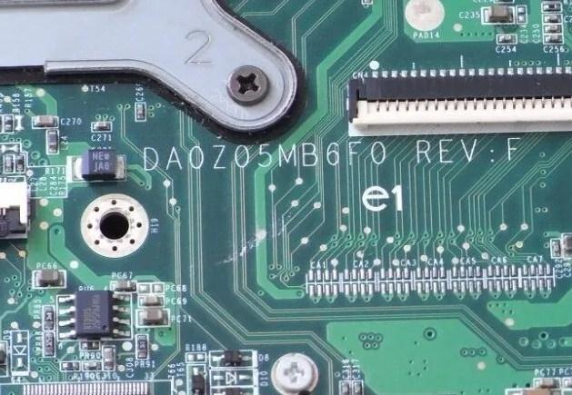 DA0ZO5MB6F0 Rev F Acer Aspire 4230 4530 Quanta Z05 bios