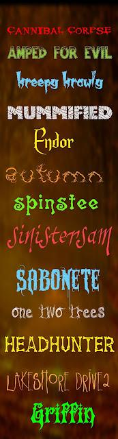104 Tipos de letra o fuentes gratis con motivo de halloween