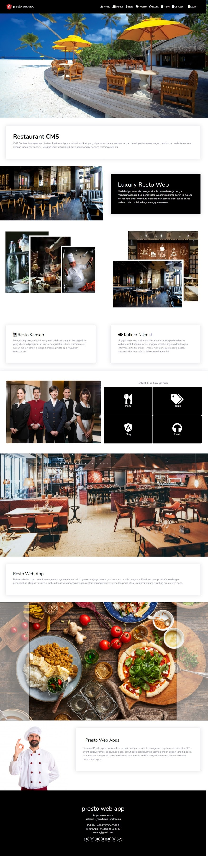 website restoran