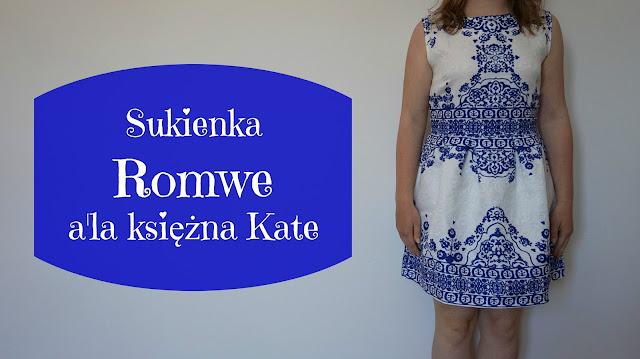 RECENZJA: Sukienka firmy Romwe a'la księżna Kate