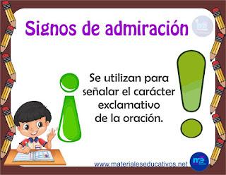 SIGNOS DE ADMIRACION