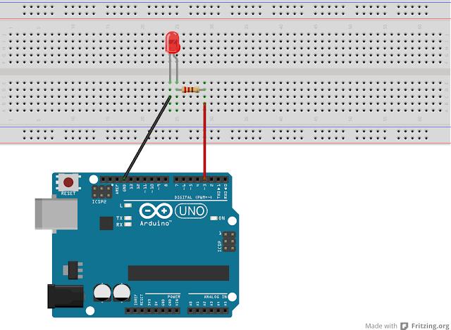 Program Menyalakan LED Menggunakan Arduino UNO