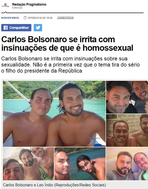 """BarãoNews urgente  Bolsonaro vai mandar enquadrar na lei de segurança nacional qualquer pessoa que insinuar que Carluxo, o Zero Três, é gay. Na """"famiglia"""" Bolsonaro só tem macho """"imbroxável""""!  Tenderam ou querem uma visitinha da Polícia Federal em vossos lares?"""