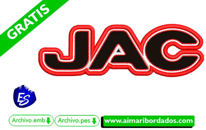 Logo JAC Para Bordar