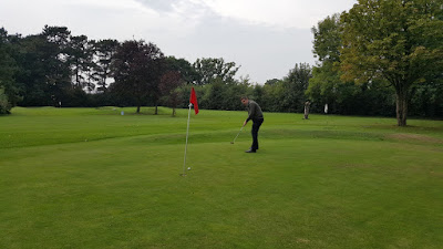 Playing hole 1 at Bruntwood Pitch & Putt in Cheadle in 2016