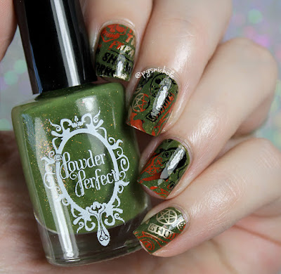 Powder Perfect Halloween Stamping