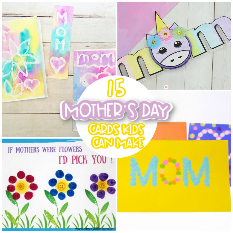 Fabulous Mothers Day Cards For Kids To Make Messy Little Monster Funny Birthday Cards Online Fluifree Goldxyz