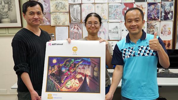 大葉大學多媒體數位學程余宥蓁 榮獲日本插畫賽金賞