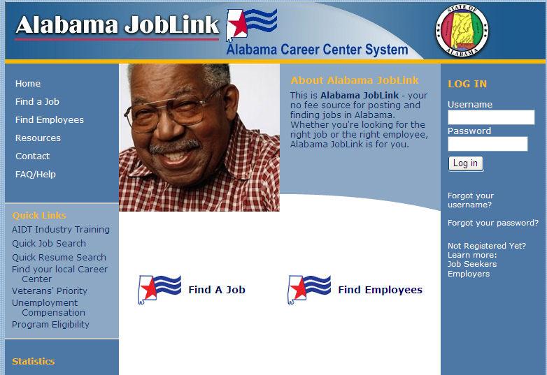 Big Game Job Hunting: Alabama JobLink - Site Review