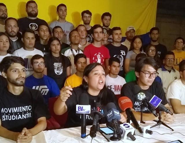 VENEZUELA: Movimiento Estudiantil ratifica su respaldo a la lucha por conquistar la democracia y la libertad en Venezuela