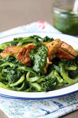 Marinated chicken and green courghetti (AIP)