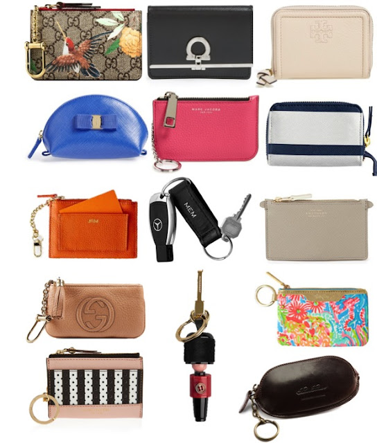 cute key pouches, key chains and key rings