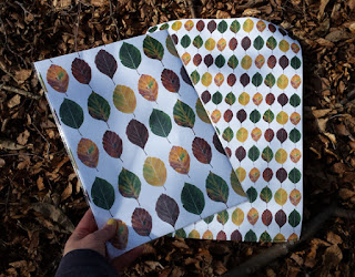 Leaves wrapping paper by Alice Draws The Line