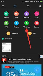 Cara Menyimpan Status WA di HP Xiaomi