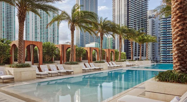 Image Attribute: lux garden level pool terrace / SLS Lux Brickell, Miami