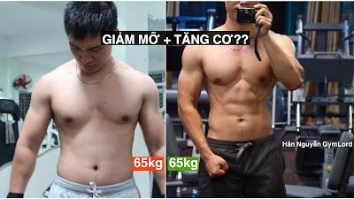 Cách tập tăng cơ giảm mỡ
