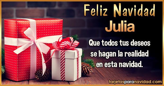 Feliz Navidad Julia