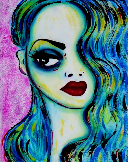 Bebee Pino 'Untitled' Acrylic on canvas