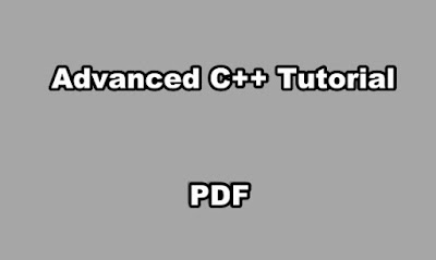 Advanced C++ Tutorial PDF