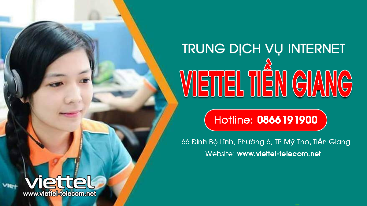 Viettel Tiền Giang - Tổng đài lắp mạng Internet và Truyền hình ViettelTV