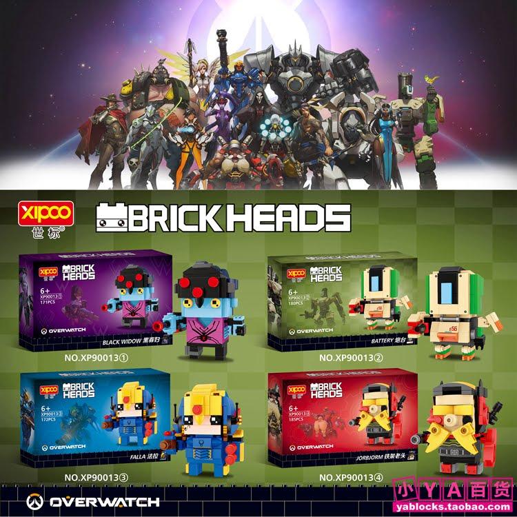 downtheblocks xipoo xp90013 brickheadz overwatch characters builds