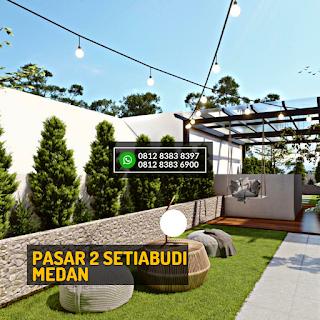Roof Top 2 Siang Hari Rumah Cantik Mewah Berkualitas di Pasar 2 Setiabudi Ringroad Medan - Twin Luxury