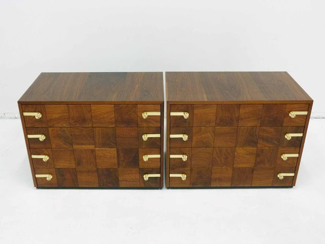 Renzo Rutili for Johnson Furniture Hollywood Regency Dresser Chests 2