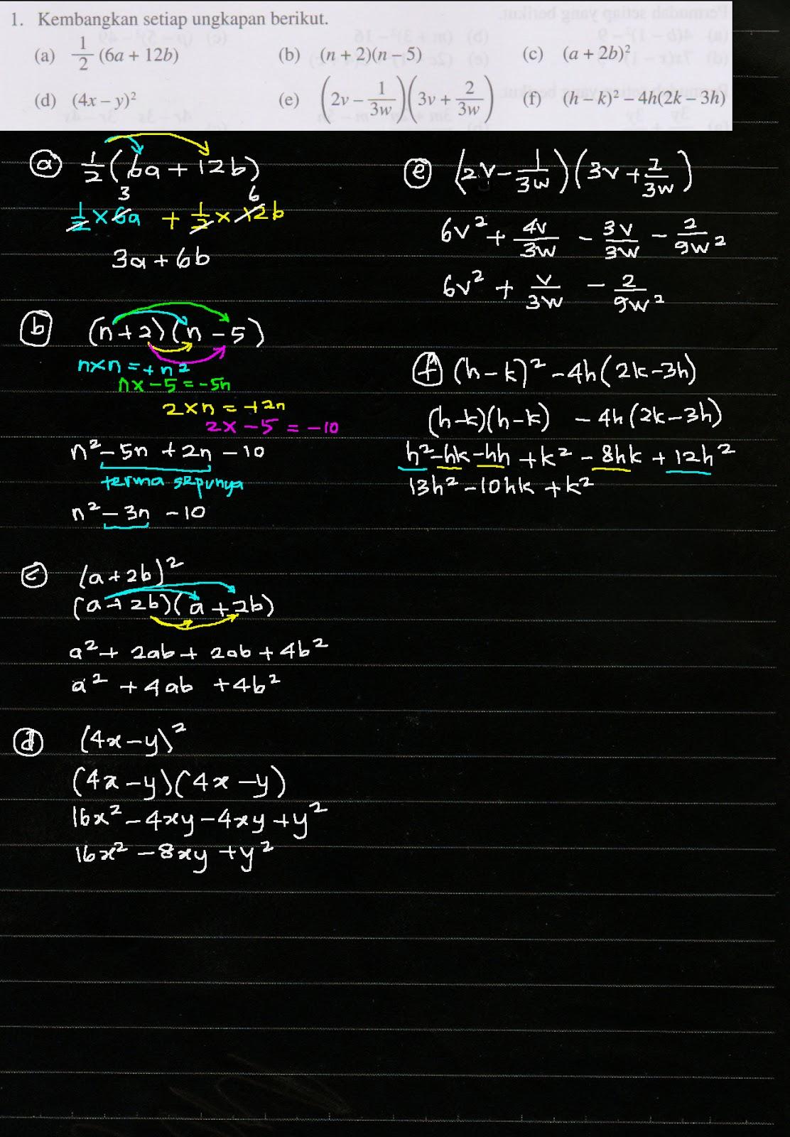 Cikgu Azman Bukit Jalil Bab 2 Pemfaktoran Dan Pecahan Algebra Menjana Kecemerlangan Ms 38