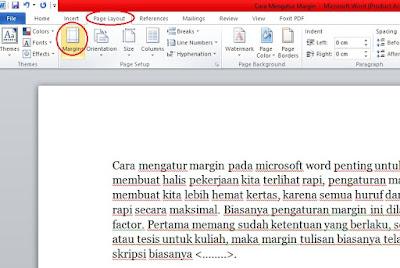 cara mengatur margin pada microsoft word
