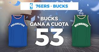 Paston Megacuota NBA Milwaukee gana a cuota 53 25-12-2019